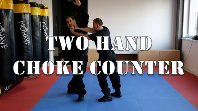 Front Two-Hand Choke Escape